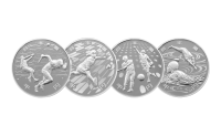 Komplett serie 2 offisielle sølvmynter OL i Tokyo 2020