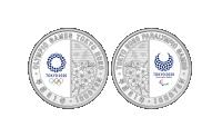 Revers OL-sølvmynter