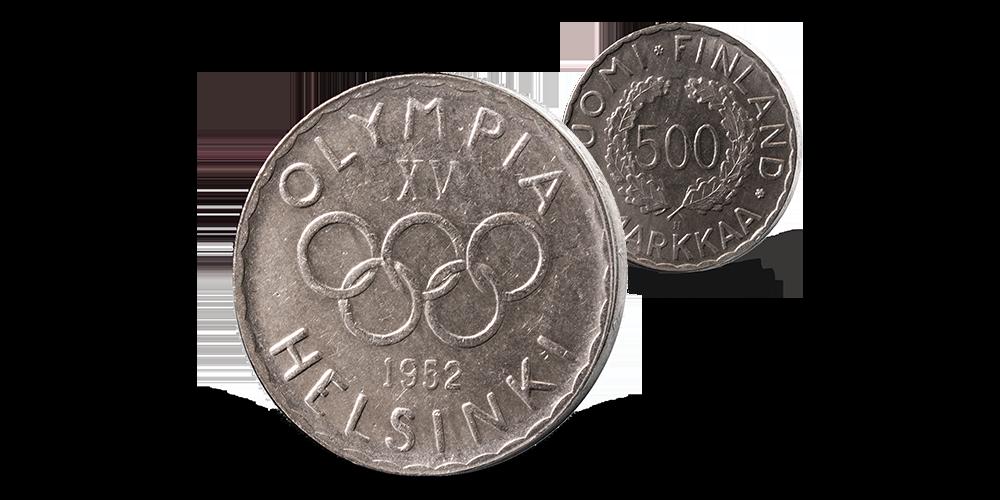 Den første minnemynten utgitt til OL