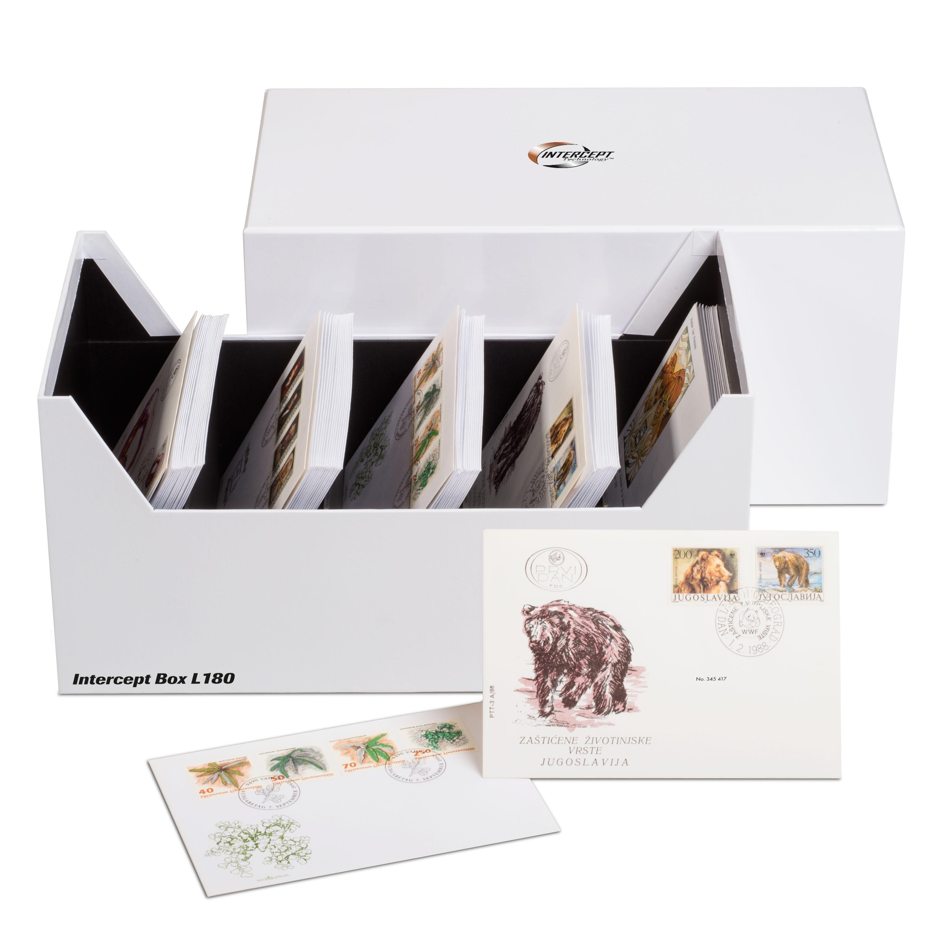 Oppbevaringsboks for myntsett og postkort