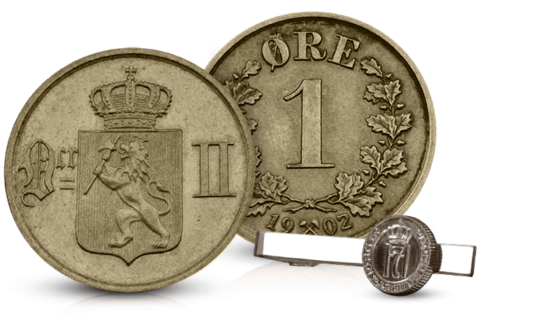 Kong Oscar IIs aller siste norske 1-øre i bronse
