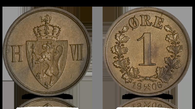 Haakon VII 1 øre 1906