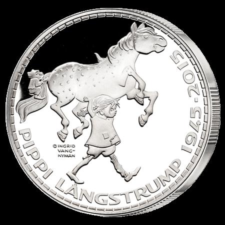 Medalje med Pippi og Lille Gubben