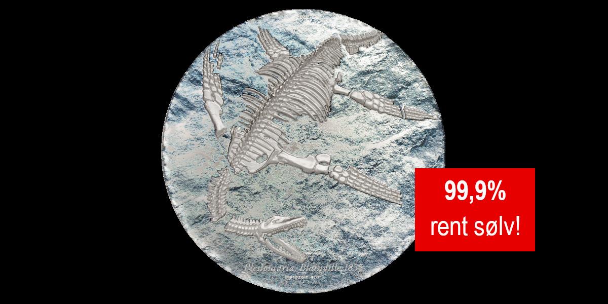 Plesiosauria rent sølv