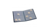 Blått lommealbum for mynter