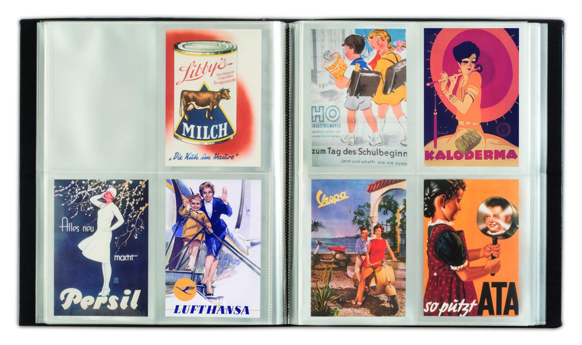 Postkortalbum i elegant og klassisk design