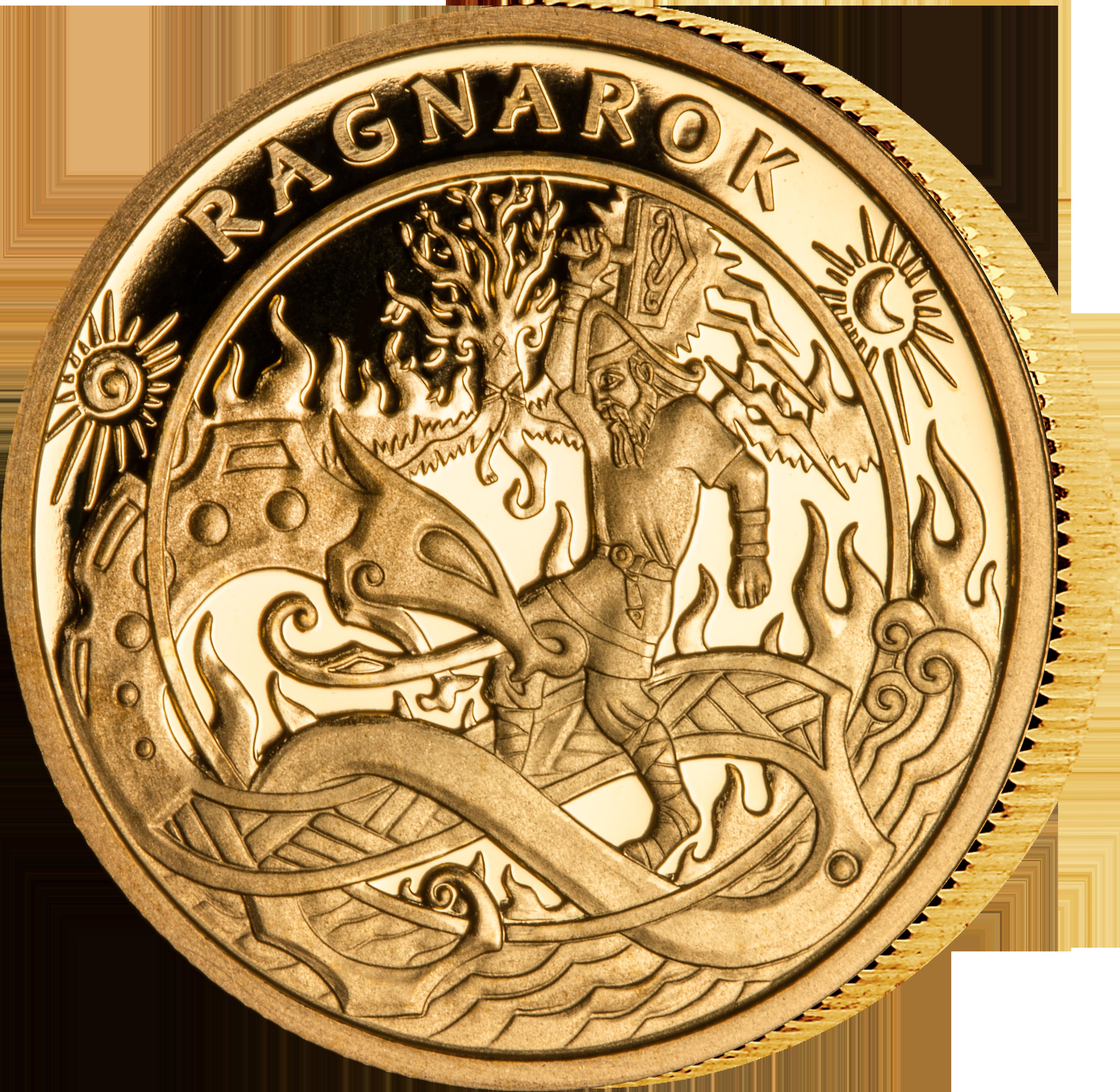 Vikingmynten Ragnarok i gull