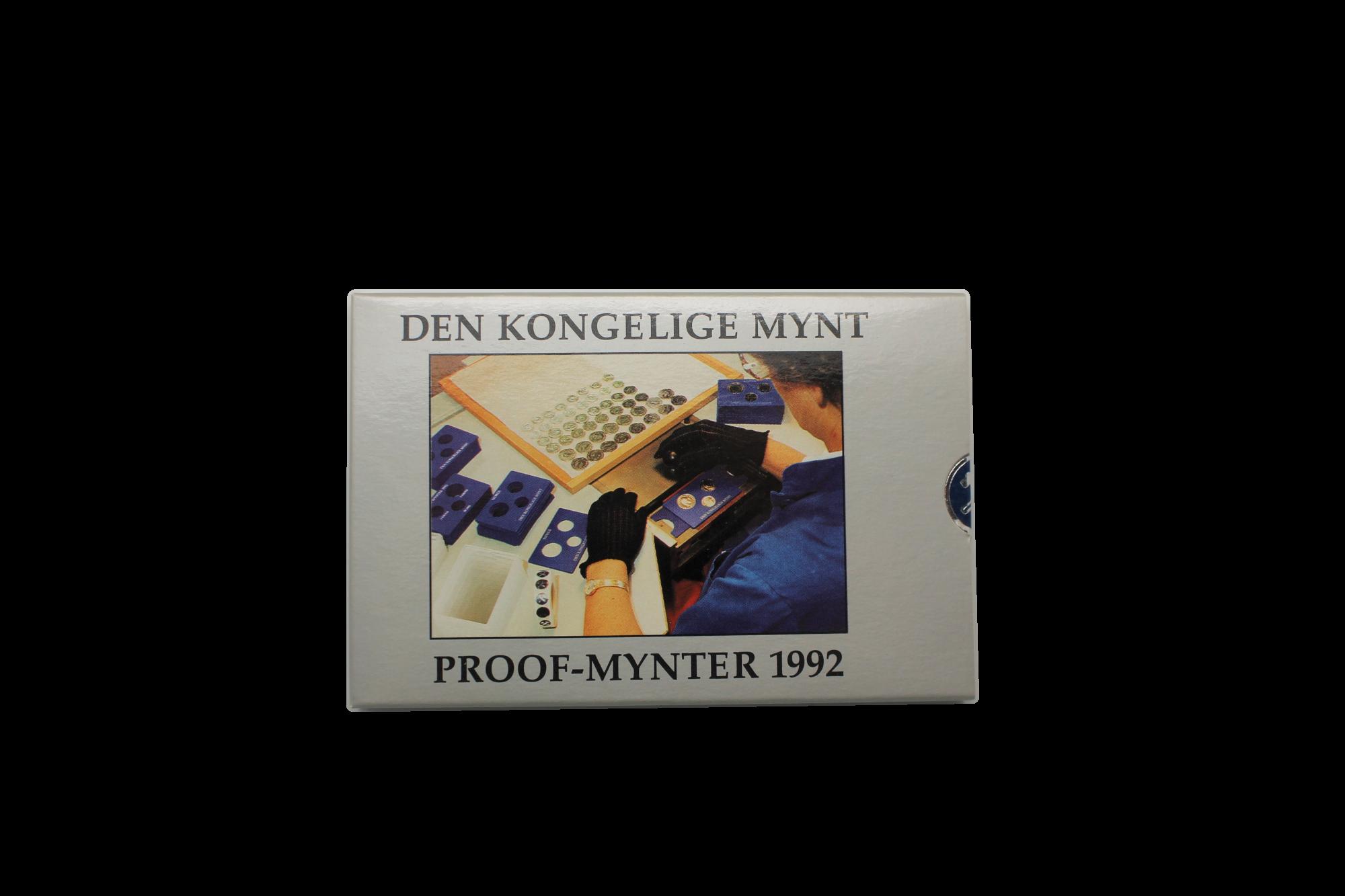 Proofsett 1992 forside innpakning