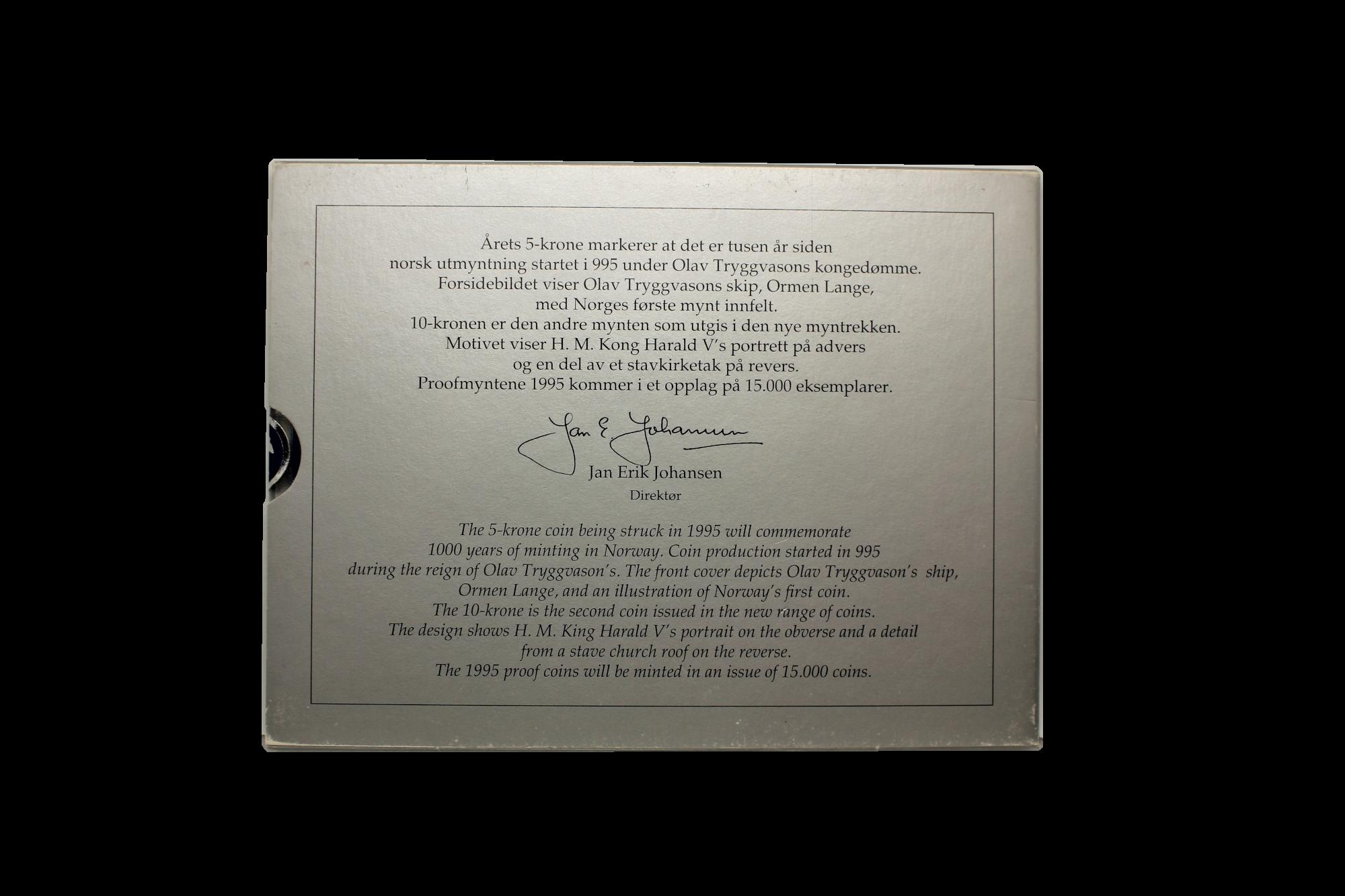 Proofsett 1995 bakside innpakning