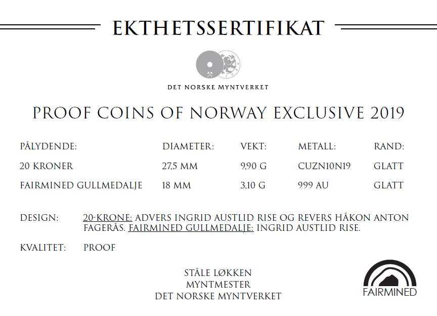Årets prestisjesett fra Det Norske Myntverket med Fairmined gull