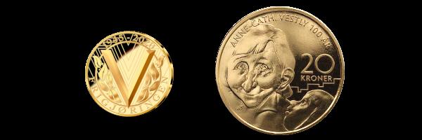 Medaljen og mynten i prestisjesettet