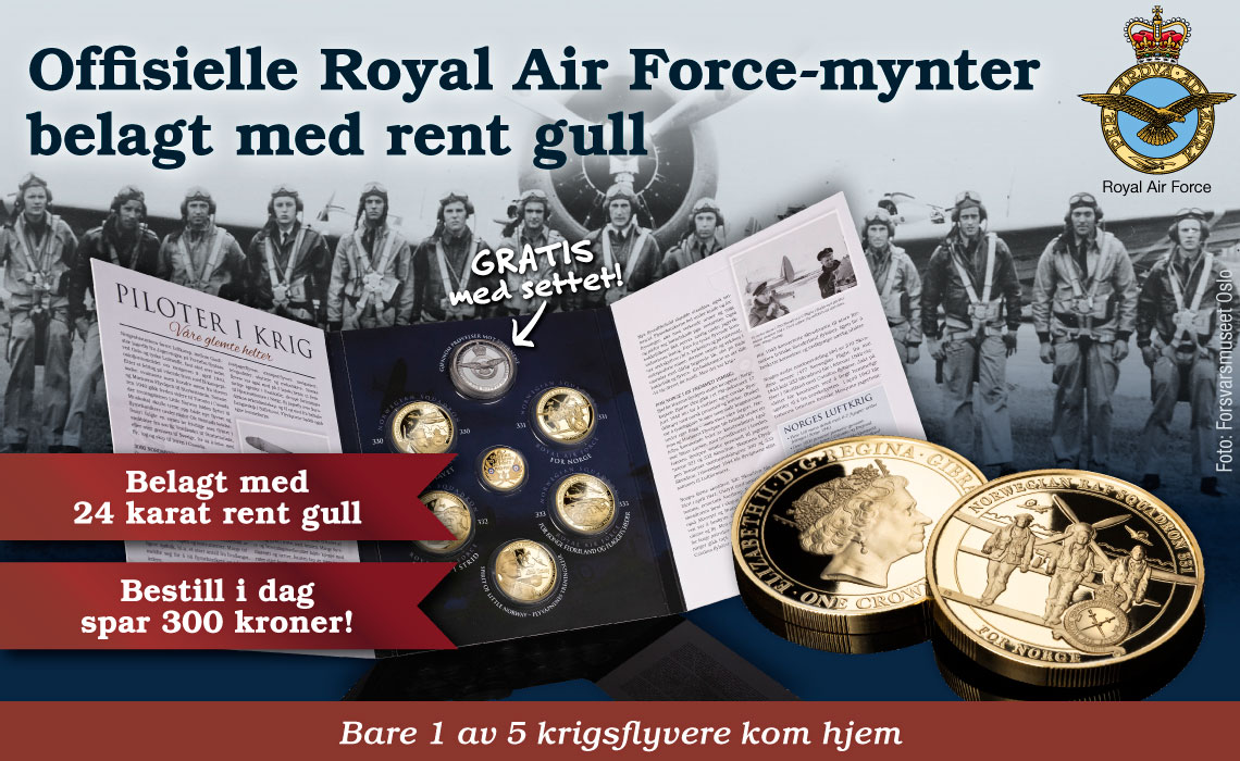 De offisielle Royal Air Force minnemyntene