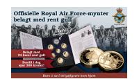 De offisielle Royal Air Force minnemyntene