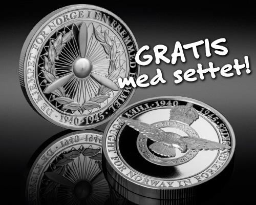 Gratis Royal Air Force medalje med første mynt i samlingen