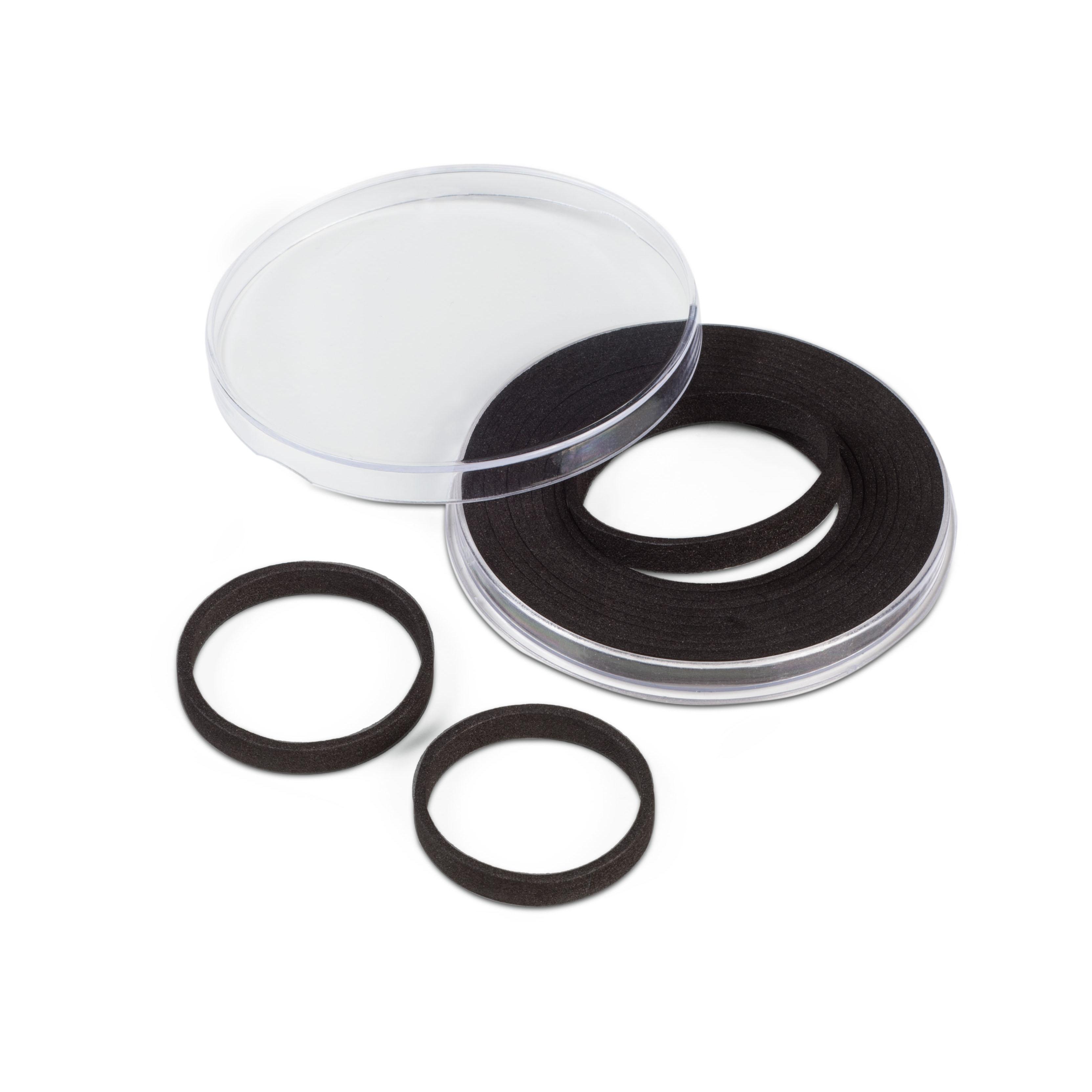 Runde myntkapsler med fleksibel indre diameter fra 29-76 mm