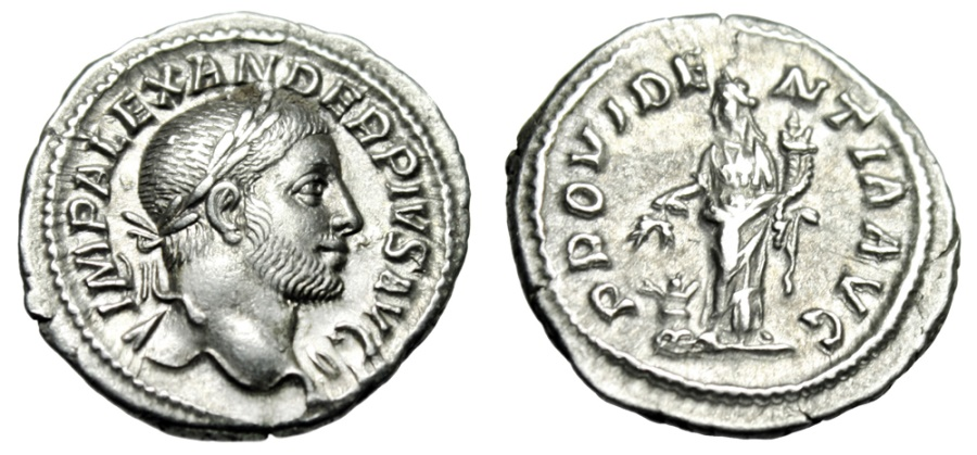 Severus Alexander denarius mynt