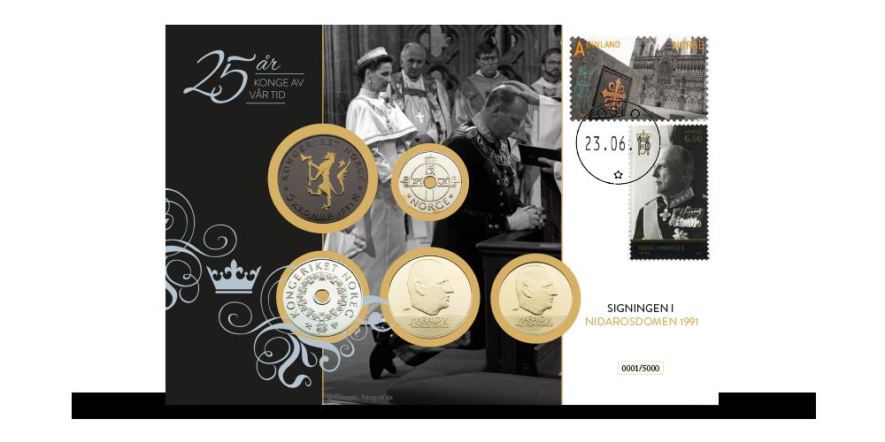 25-årsjubileet for signingen av kongeparet feires med jubileumsmyntbrev i begrenset opplag