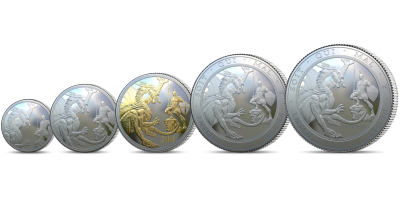 Silver Sovereign 2020: Let the Battle Commence 5 coin set
