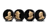 Fire minnemynter i samlingen