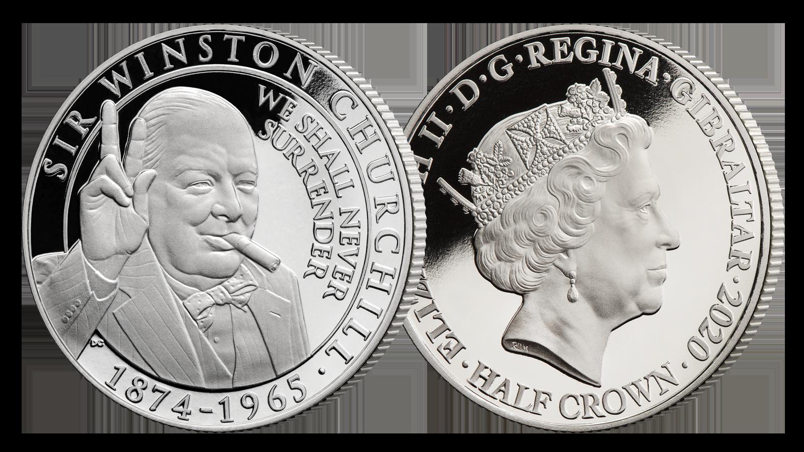 Churchill hedres på offisiell minnemynt