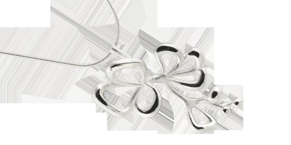 Anheng Blomst i sølv