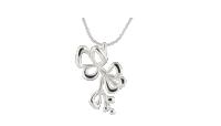Anheng Blomst med kjede i sølv