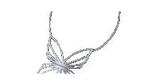 Sommerfuglsmykke i sølv med sølvkjede