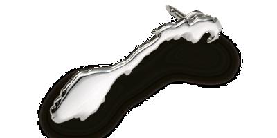 Sølvbelagt pin Norgeskart
