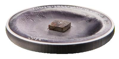 Sølvmynt med ekte meteorittstein!