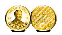 Nelson Mandela gullmynt 2018