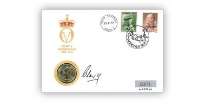 Myntbrev nr. 2: Kong Olav Vs død