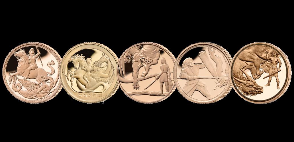Komplett Sovereign 2017-2021 i 22 karat gull