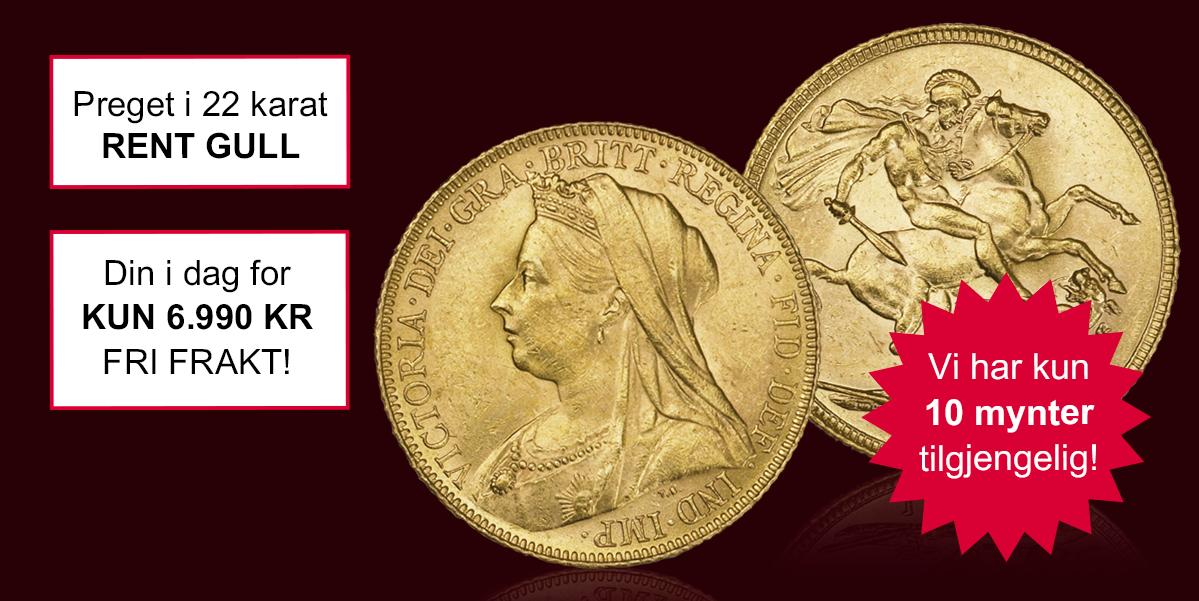 Gullmynt fra Dronning Victoria kan nå bli din!