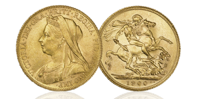 GB 1 Sovereign Victoria 1893-1901