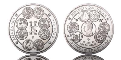 Spanias aller første 1 kilo sølvmynt, 300 euro