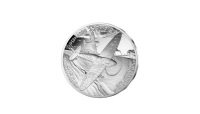 Spitfire sølvmynten advers side