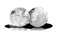 Spitfire sølvmynt fra Monnaie de Paris