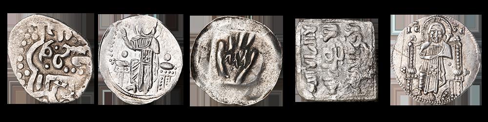 Sølvmynter som sirkulerte under Svartedauden