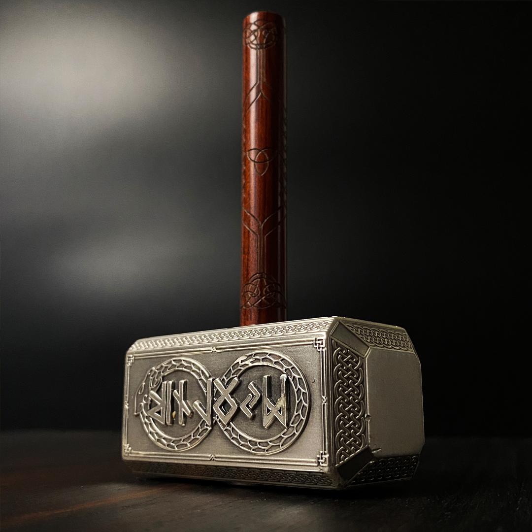 Tors hammer i sølv