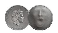 Fanget-mynt preget  i 99,9% sølv