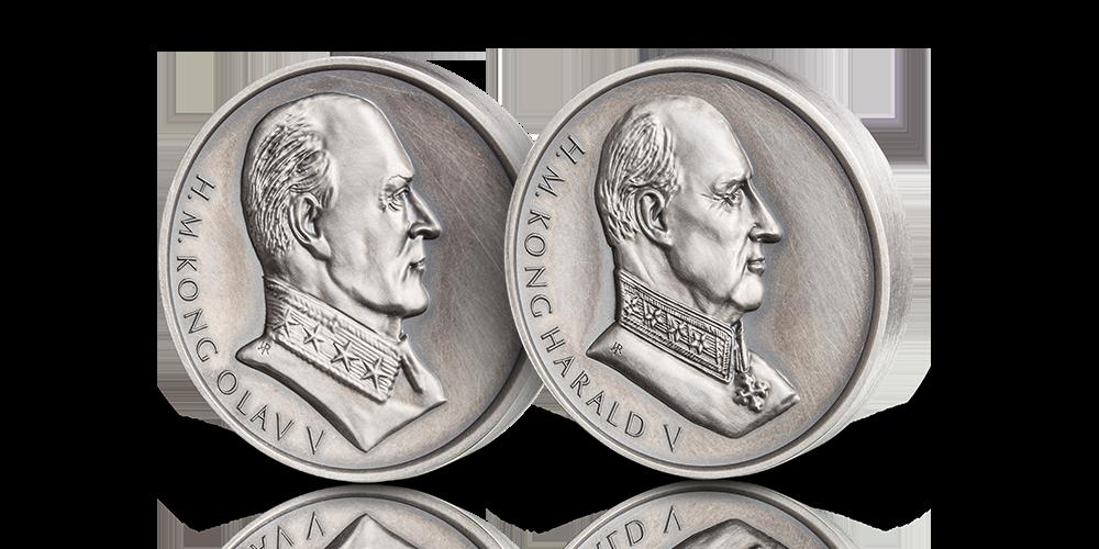 Spektakulære portrettmedaljer av folkekongene