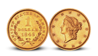 1 dollar USA gullmynt 1849
