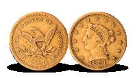 2 1/2 dollar USA gull 1851