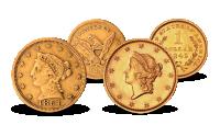 Amerikansk gullmyntsett Gold Rush