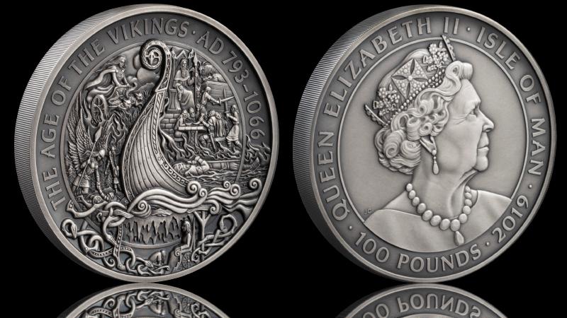 Spektakulær vikingmynt i 1 kilo rent sølv