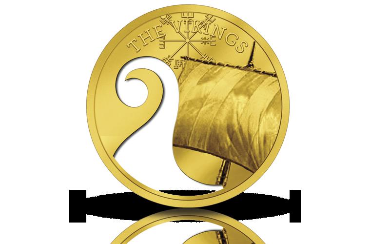 Designskisse av viking gullmynt