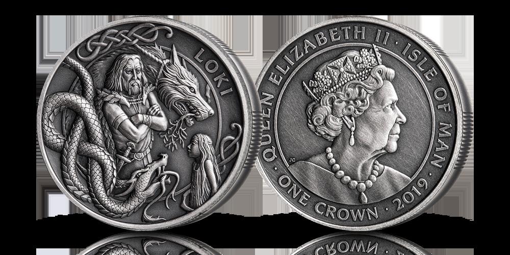 Spesialutgave av vikingminnemynt belagt med sølv