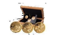 Vikingmyntsett i gull