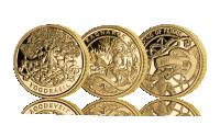 Gullmynter med norrøne mytotlogi tema
