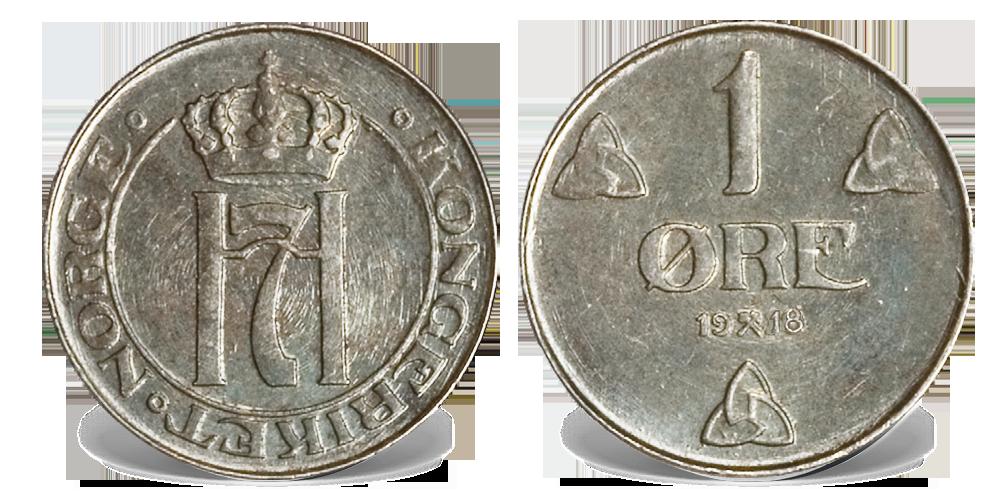 Jernmynt da første verdenskrig gjorde det vanskelig å få sølv til landet.